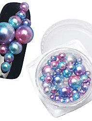 Seven Color Mixed Round Pearl 1 Boxes of Different Specifications