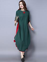 2017 printemps et en été nouvelle robe de coton rétro vent nationale de théâtre fausse robe en deux parties