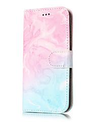 abordables -Coque Pour Samsung Galaxy J7 (2016) J5 (2016) Porte Carte Portefeuille Avec Support Clapet Motif Coque Intégrale Marbre Dur faux cuir pour
