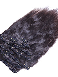 cheap -Clip In Human Hair Extensions Human Hair Straight 8Pcs/Pack 10Pcs/Pack 18 inch 20 inch 22 inch 24 inch 26 inch