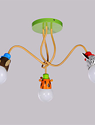 Animal shape 3 Heads Ceiling Lamp Metal Flush Mount Living Room Dining Room Kids Room