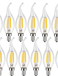 cheap -4W E14 LED Filament Bulbs CA35 4 leds COB Decorative Warm White Cold White 400lm 3000 6000K AC 220-240V