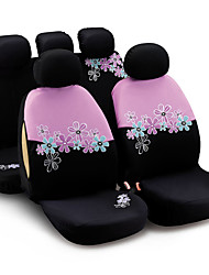 cheap -AUTOYOUTH Car Seat Covers For Women Universal Fit Most Cars And Airbag Compatible Pink Color With Flower Embroidery