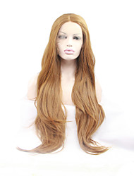 Sylvia Synthetic Lace front Wig Strawberry Blonde Heat Resistant Long Natual Wave Synthetic Wigs