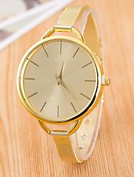cheap -Women's Golden Fine Mesh Belt  Fashion Quartz Watch Golden silver