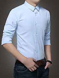 Versione quattro stagioni coreana del sottile marea uomini di ferro&# 39; s business casual camicia a maniche lunghe di colore solido