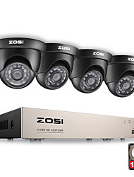 cheap -ZOSI® 8CH CCTV System 1080N HDMI 4IN1 DVR 4PCS 720P IR Outdoor Camera 1TB HDD