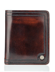 cheap -Men Bags Cowhide Wallet for Casual Formal Office & Career All Seasons Bronze