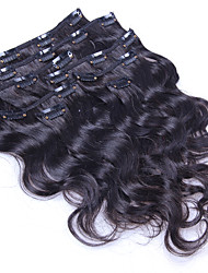 cheap -Clip In Human Hair Extensions Body Wave Human Hair Brazilian Hair Women's Daily