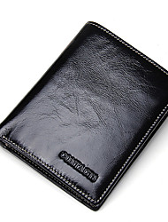 cheap -Men Bags Cowhide Wallet for Shopping Casual Formal Outdoor Office & Career All Seasons Black