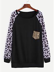 ebay aliexpress nuova tasca Europa leopardo paillettes cuciture maglietta