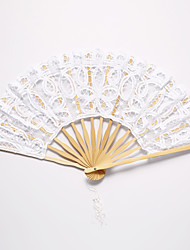 cheap -Floral White Lace Hand Fan Wedding Favors Classic Them Chic & Modern