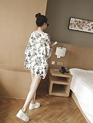 2016 spring new Korean loose bat sleeve wind flower chiffon shirt jacket sun protection clothing