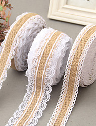 cheap -Creative Ribbon Jute Wedding Ribbons - 1 Piece/Set Weaving Ribbon Unique Wedding Décor Decorate favor holder Decorate gift box Decorate