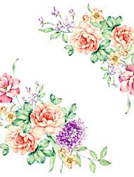 Недорогие -Мода Цветы Мультипликация Наклейки Простые наклейки Декоративные наклейки на стены, Винил Украшение дома Наклейка на стену Стена Унитаз