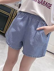 2017 Summer Korean version of the elastic waist fat mm XL plus fertilizer loose wide leg jeans female shorts