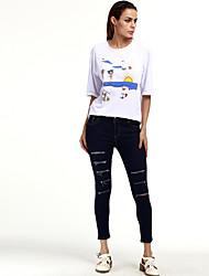 знак джинсы больших размеров женщин&# 39, S европейской и американской торговли Амазонка Ebay Aliexpress талии брюки карандаш