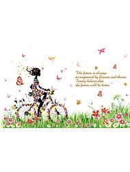 Недорогие -Люди Цветы Мультипликация Наклейки Простые наклейки Декоративные наклейки на стены, Винил Украшение дома Наклейка на стену Стекло /