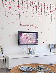 Недорогие -Цветы Наклейки Простые наклейки Декоративные наклейки на стены,Винил Украшение дома Наклейка на стену For Стена