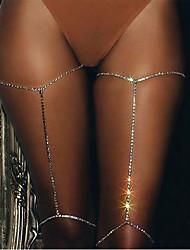 Недорогие -Жен. Цепочка на ногу Цепь Тела / Belly Chain Медь Стразы Винтаж Богемные Турецкий Ручная Pабота Хип-хоп Мода Готика Геометрической формы