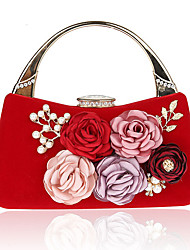 cheap -Women's Bags PU Evening Bag Imitation Pearl Flower for Wedding Event/Party Casual Formal Office & Career Winter Spring Summer Fall All