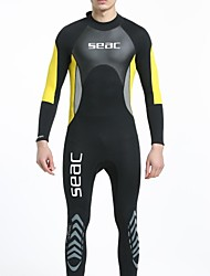 cheap -HISEA® Men's 3mm Wetsuit Skin Wetsuits Full Wetsuit Comfortable Sunscreen LYCRA® Diving Suit Long Sleeve Diving Suits-Swimming Diving