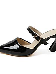 Femme-Bureau & Travail Habillé-Noir Gris Rose-Gros Talon-Confort-Chaussures à Talons-Polyuréthane