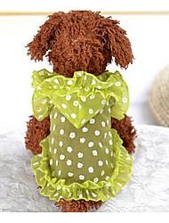 baratos -Cachorro Vestidos Roupas para Cães Princesa Roxo Amarelo Algodão Ocasiões Especiais Para animais de estimação Homens Mulheres Fofo Casual