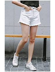 firmare coreano shorts in denim a vita alta estate femminile grandi cantieri perdere una parola studenti Burr ampio gamba pantaloncini di