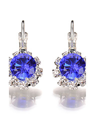 cheap -Women's Crystal Drop Earrings / Earrings - Crystal Geometric, Fashion Hot Pink / Red / Blue For Wedding / Party