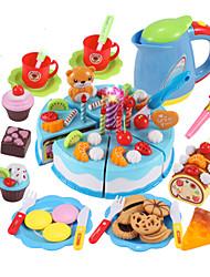 baratos -Conjuntos Toy Cozinha Comida de Brinquedo Brinquedos de Faz de Conta Brinquedos Circular Sobremesa Cortadores de Bolos e Bolachas Bolo PVC