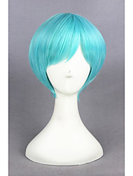 cheap -Synthetic Wig Straight Capless Women's Blue Cosplay Wig Short