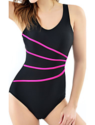 cheap -Womens Sexy Fashion  Sports  Striped Tummy Control One-piece Swimsuits(M-XL)