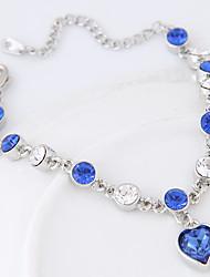 Femme Charmes pour Bracelets Strass Alliage Mode Bleu Bijoux 1pc