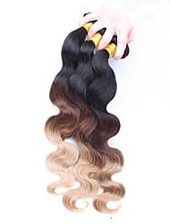 billige -3 Bundler Europæisk hår Krop Bølge Menneskehår Nuance Menneskehår Vævninger Menneskehår Extensions