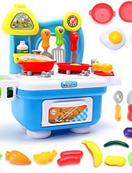 Tue so als ob du spielst Spielzeug-Küchen-Sets Spielzeug Geschirr Tee-Sets Toy Foods Spielzeuge Kreisförmig Jungen Mädchen Stücke