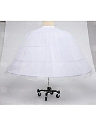Slips Ball Gown Slip Tea-Length 1 Tulle Netting Taffeta Polyester White Black Red