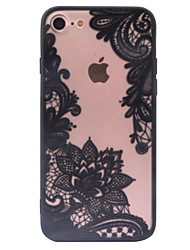 Retro Flower Pattern Openwork Relief Printing Thin PC Material Case for iPhone 7 7 Plus 6s 6 Plus SE 5s 5