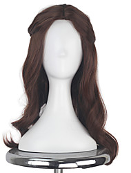 Women Adult Princess Hair Long Curly Brown Color Movie Cosplay Costume Party Wig for Party Halloween