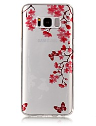 For Samsung Galaxy S8 Plus S8 Case Cover Maple Leaf Butterfly Pattern High Permeability TPU Material IMD Craft Phone Case S7 S6 (Edge) S7 S6 S5