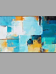 Hand Painted Oil Painting Abstract Bright Color Wall Art with Stretched Framed Ready to Hang