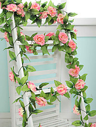 cheap -9 Flowers 2 M Longth Artificial Fake Silk Rose Flower Ivy Vine Hanging Garland Wedding Decor Party Home Garden Decoration