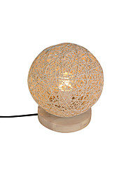 cheap -Rattan Contemporary Table Lamp And Rattan Lampshade Woodbase