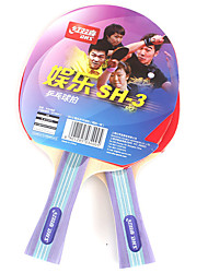 2 Stelle Ping-pong Racchette Ping Pang Legno Manopola  lunga Invertito brufoli 2 Racchetta