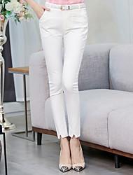 Pantyhose feminino primavera novo magro fino fino ol ocasional calças terno preto lápis calças pés maré seção