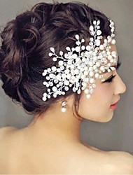 cheap -Imitation Pearl Hair Combs Flowers 1 Wedding Special Occasion Headpiece