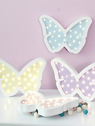 cheap -Nordic Style LED Night Light Table Lamp Wall Lamp Wall Decoration LED Ornament Children Room Decoration Lovely Butterfly Cartoon Lamp