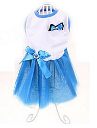 Chien Robe Vêtements pour Chien Mignon Décontracté / Quotidien Princesse Jaune Rouge Bleu Vert foncé Costume Pour les animaux domestiques