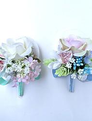 preiswerte -Hochzeitsblumen Knopflochblumen / Einzigartiges Hochzeits-Dekor Besondere Anlässe / Party / Abend Satin 25 cm ca.