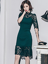 New Korean ladies temperament Slim was thin dress skirt stitching lace dress chest wrapped skirt bottoming